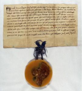 Urkunde des Stauferkaisers Friedrich II. , ausgestellt für den Bischof von Bamberg am 28. Mai 1237 in Geislingen