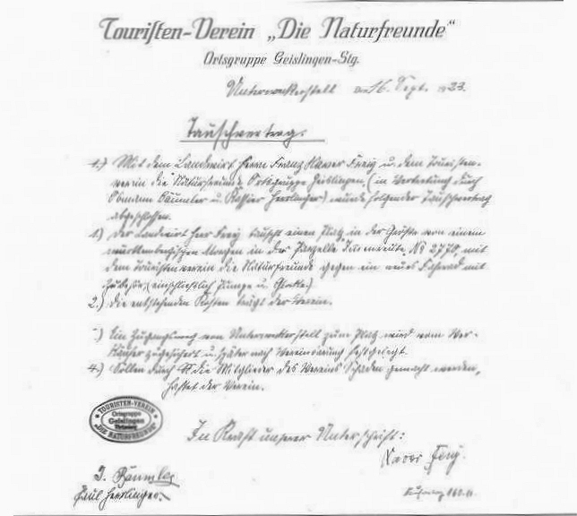 Abb.4: Kaufvertrag des Flurstücks Immenreute, 16.09.1923