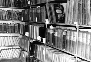 Archivregal im Keller des Gebäudes Parkstraße 4 (1954 - 1966)